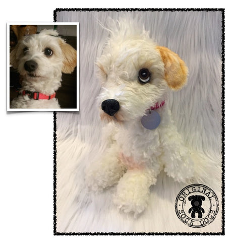 Mixed Breed Poodle Dog Stuffed Animal Plush