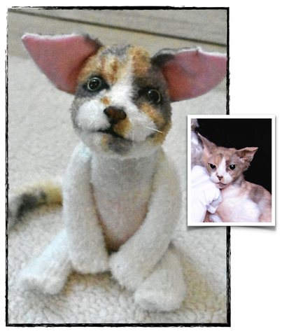 Devon Rex Cat Stuffed Animal Plush