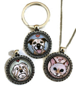 Custom Pet Portrait Pendant