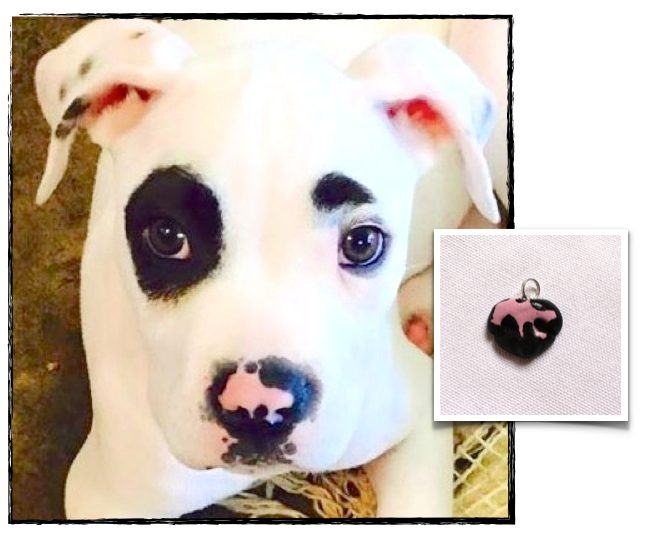 Custom Dog Nose Pendant, Dog Nose Keychain