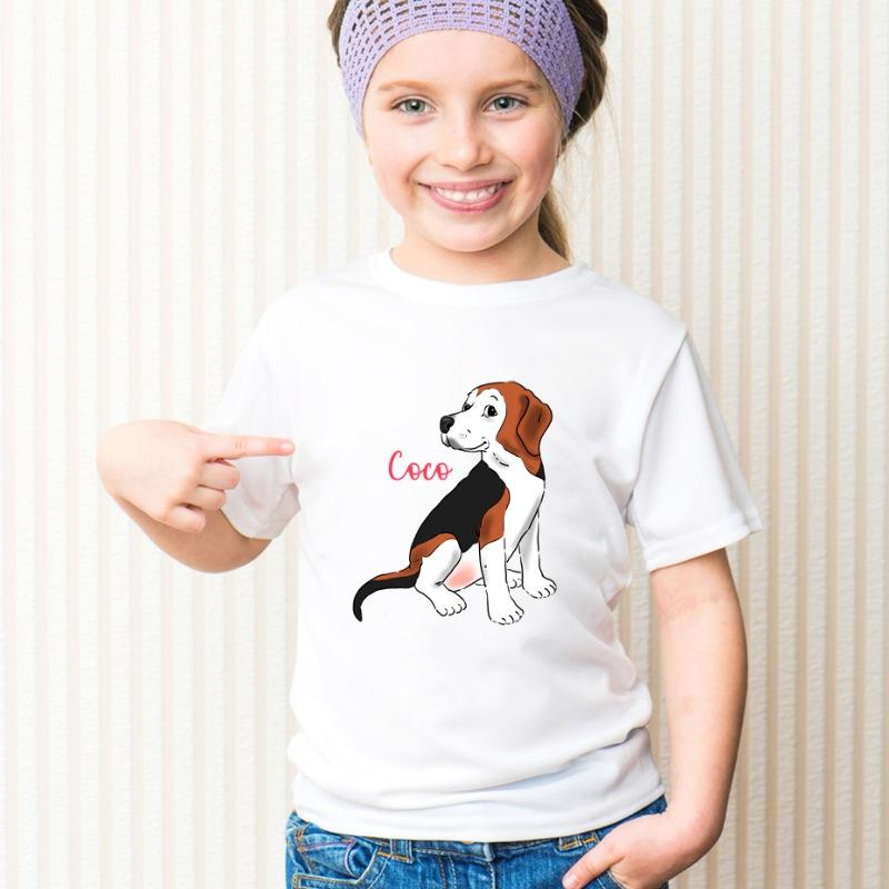 Custom Pet Portrait Kids' T-Shirt