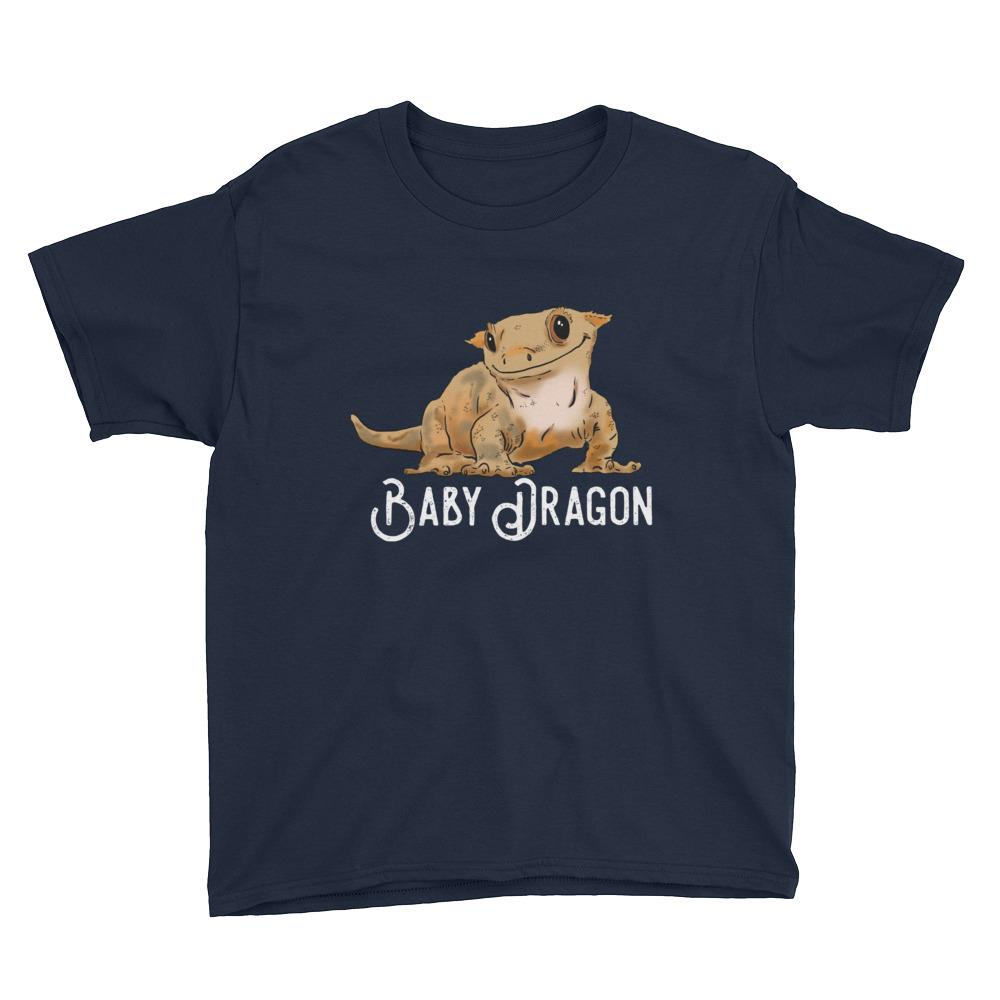 "Kids T-Shirts - Kids ""Baby Dragon"" Crested Gecko T-Shirt"