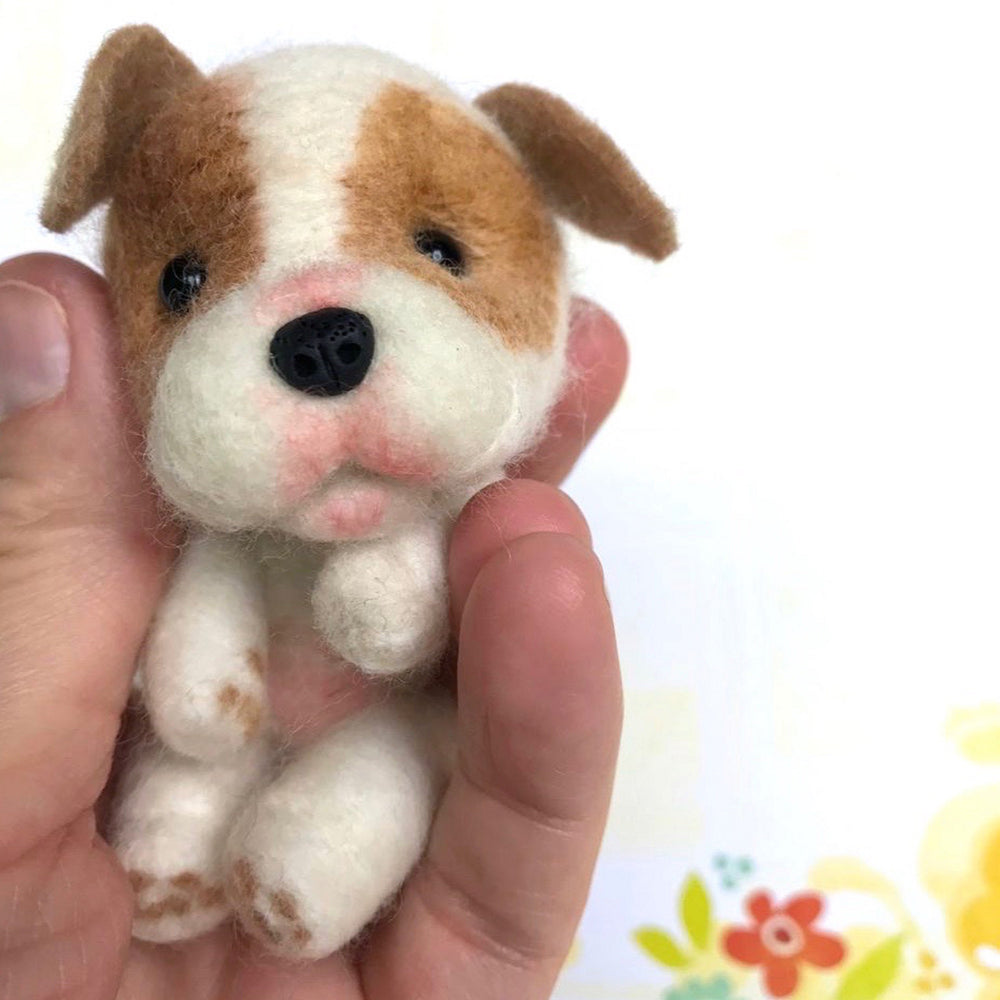 "Mini Plush - Butterball, 4"" Felted Mini Pup"
