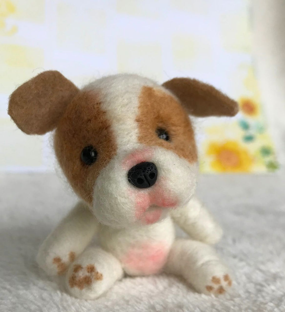 "Mini Plush - Butterball, 4"" Needle Felted Mini Pup"