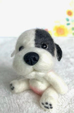"Mini Plush - Pudge, 4"" Felted Mini Pup"