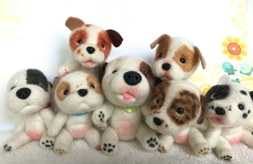 "Mini Plush - Pudge, 4"" Needle Felted Mini Pup"