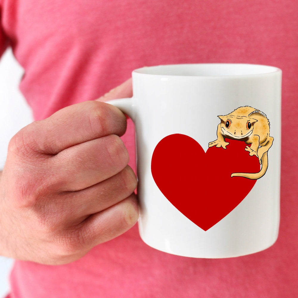 Crested Gecko Heart Mug