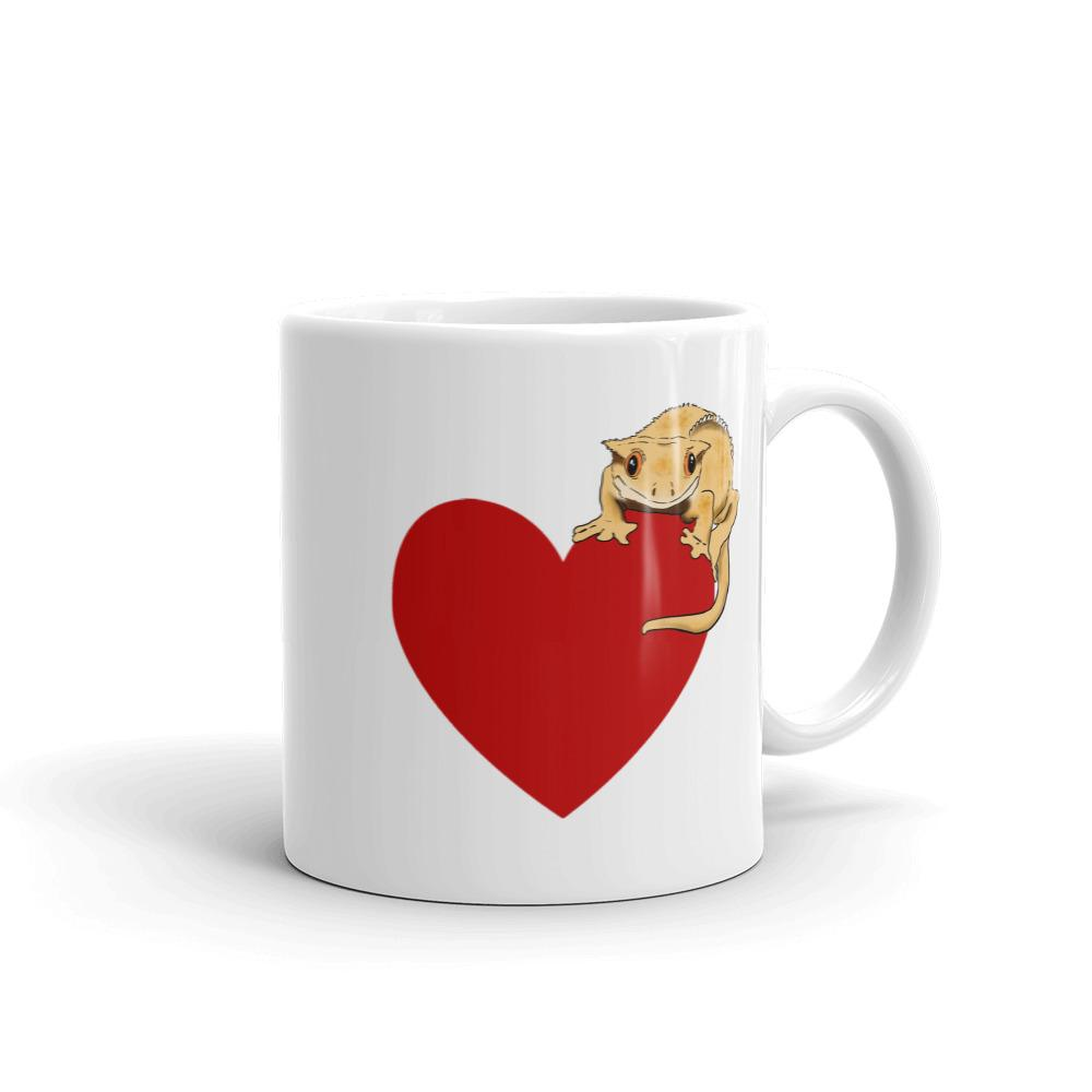 Mugs - Crested Gecko Heart Mug