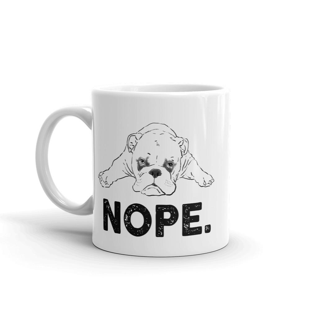Mugs - Funny Bulldog NOPE Mug