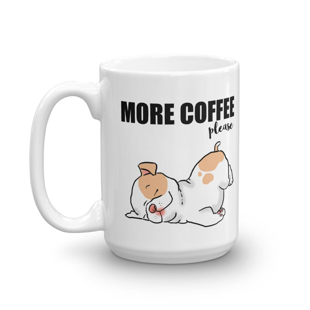 Mugs - More Coffee Please, Sleepy Puppy Mug