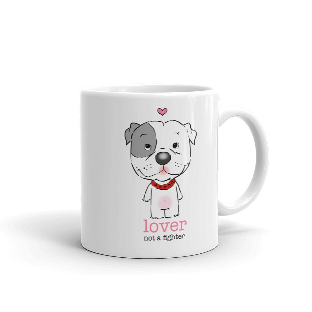Mugs - Pitbull Puppy Lover Not A Fighter Mug