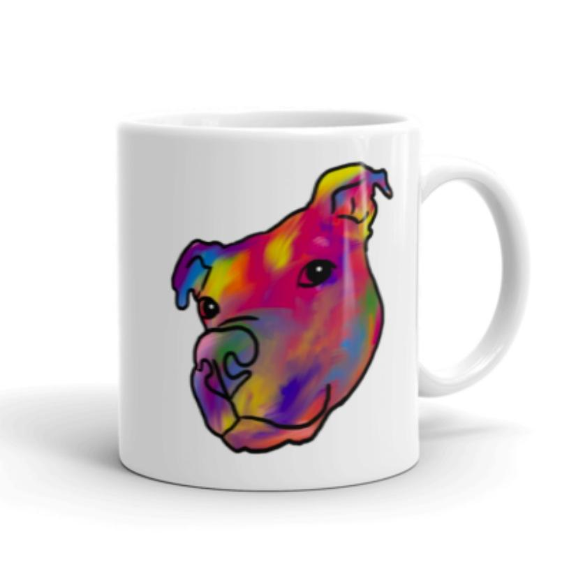 Mugs - Rainbow Pitbull Mug