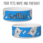 Custom Cartoon Portrait Pet Bowl