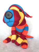 "Plush - Stripey Mutt--""Red Hot"""