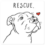 Rescue Love Pitbull Vinyl Sticker