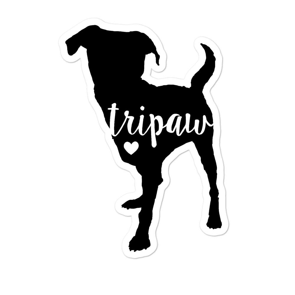 Stickers - Tripaw Love Dog Sticker
