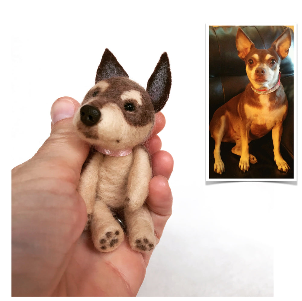 Stuffed Animals - Custom Mini Felted Pet—4""