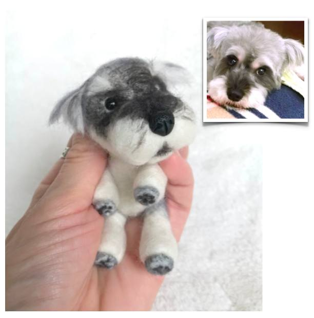 Stuffed Animals - Custom Mini Needle Felted Pet—4""