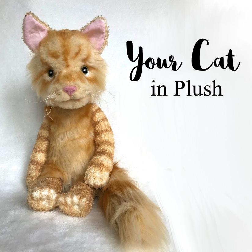 Custom stuffed animal that looks like your cat, stuffed animal that looks like your pet, stuffed animal pet memorial, pet replica, stuffed animal from your photos, orange tabby cat, fluffy plush cat, keepsake pouch, voice recorder, plush with sound, pet replica with sound, custom plush pet with sound, memory pocket, pet memorial plush, pet keepsake plush