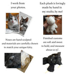 Stuffed Animals - Custom Plush Cat Replica—12 To 15""