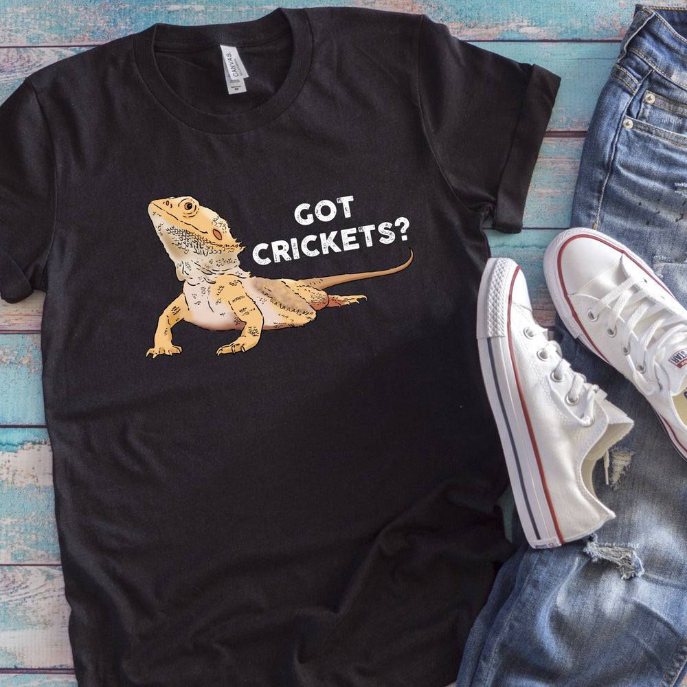 "T-Shirts - Bearded Dragon ""Got Crickets"" Unisex T-Shirt"