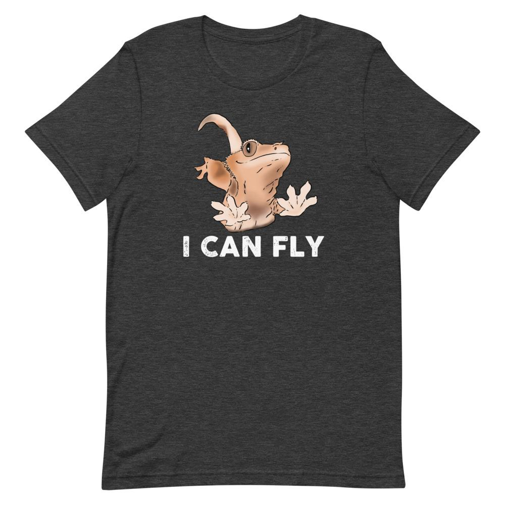 "T-Shirts - ""I Can Fly"" Funny Crested Gecko Unisex T-Shirt"