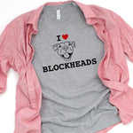 T-Shirts - I Heart Blockheads T-Shirt