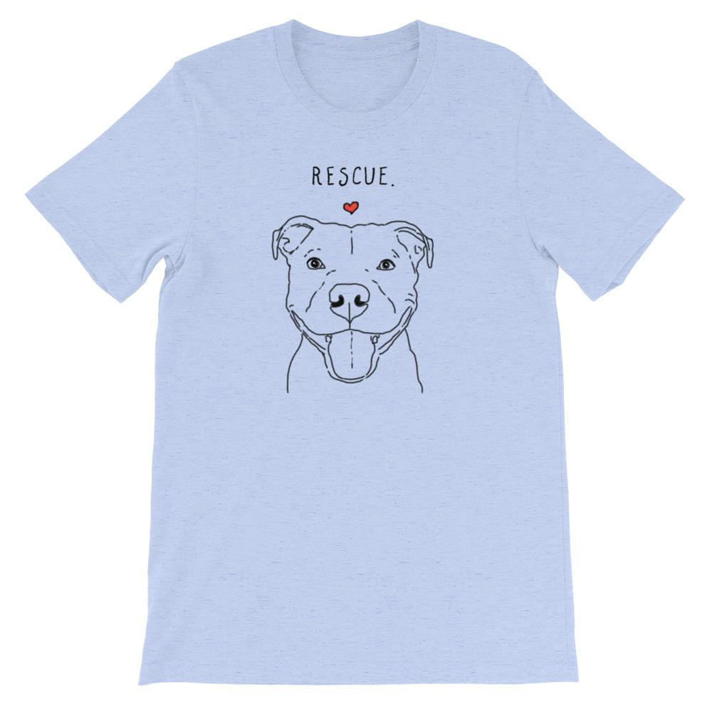 T-Shirts - Rescue Love Smiling Pit Bull T-Shirt