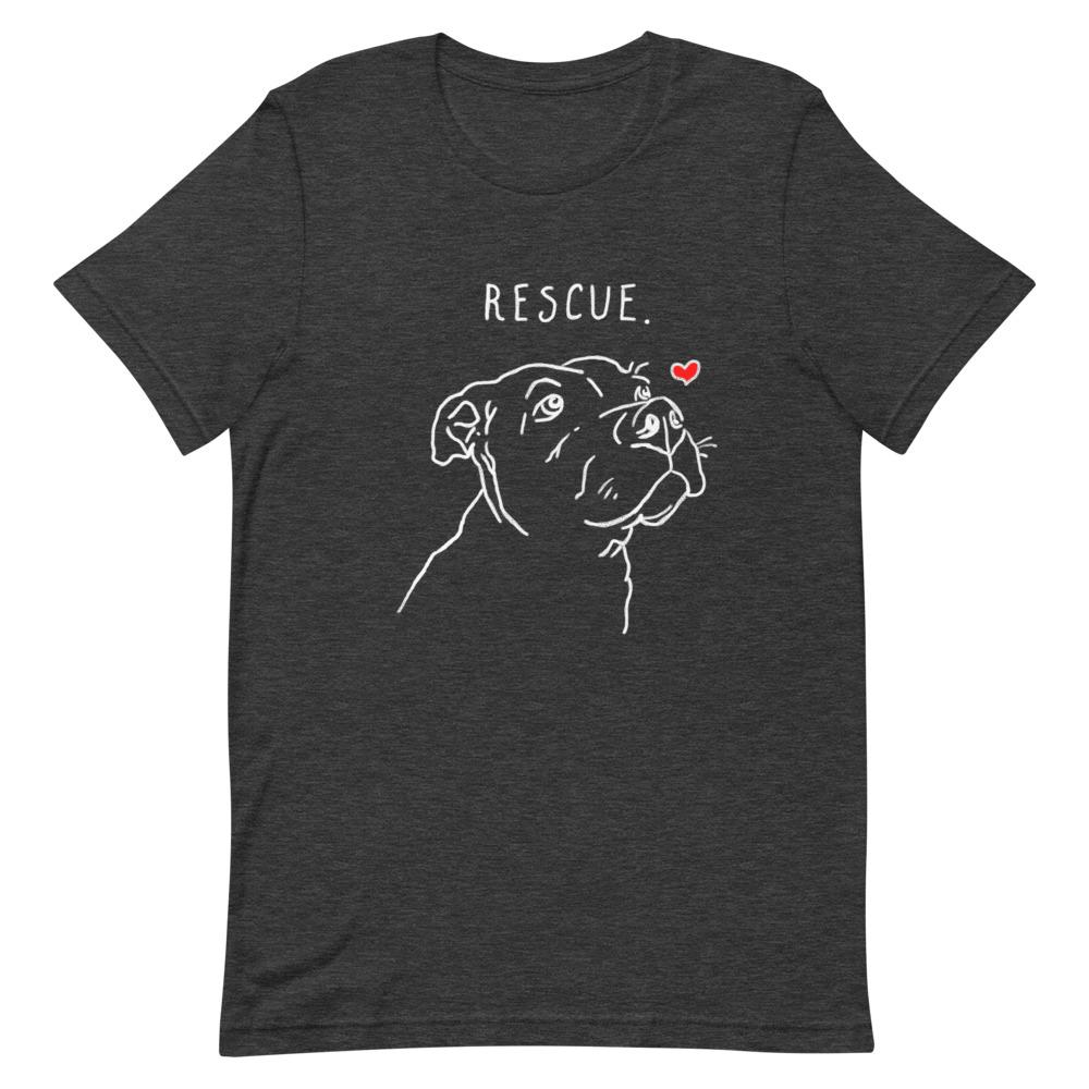 T-Shirts - Rescue Love T-Shirt Dark: Unisex Tee
