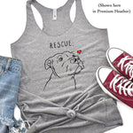 T-Shirts - Rescue Love Womens Racerback Tank