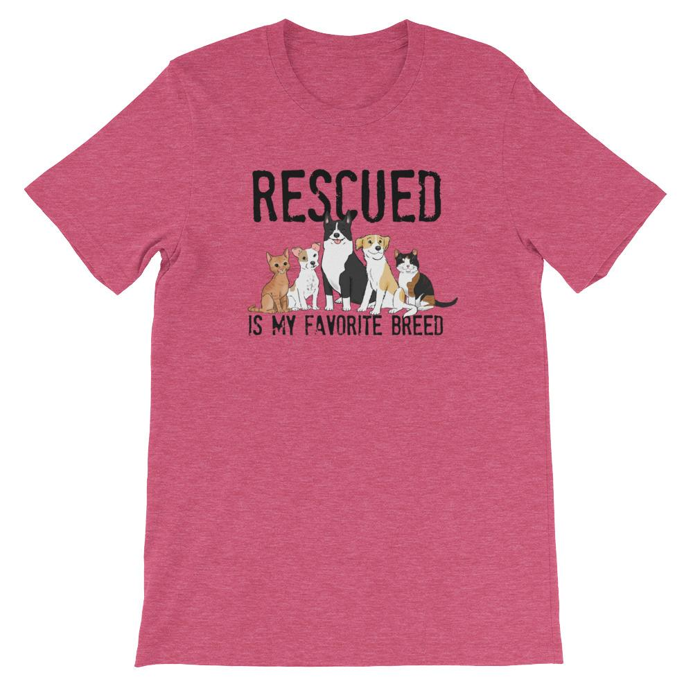 T-Shirts - Rescued Is My Favorite Breed Unisex T-Shirt