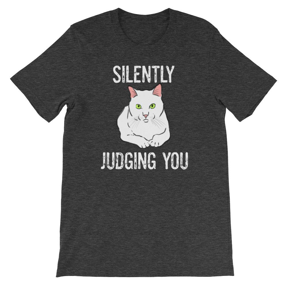 "T-Shirts - ""Silently Judging You"" Funny Cat T-Shirt"