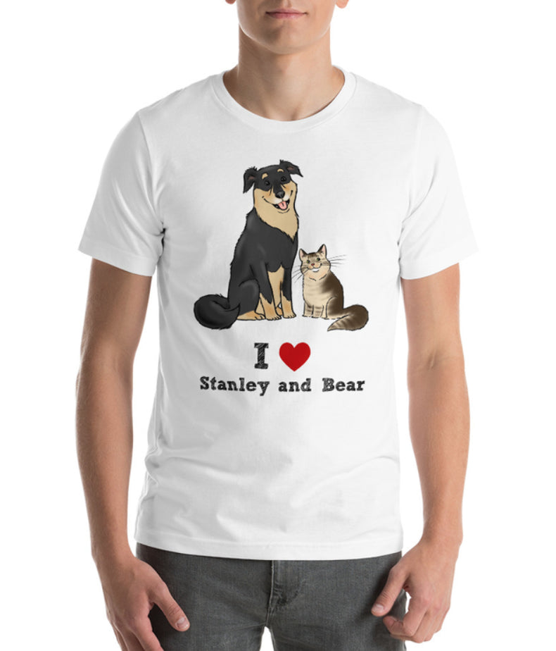 T-Shirts - Two Stanley & Bear Custom Tees For Natalie