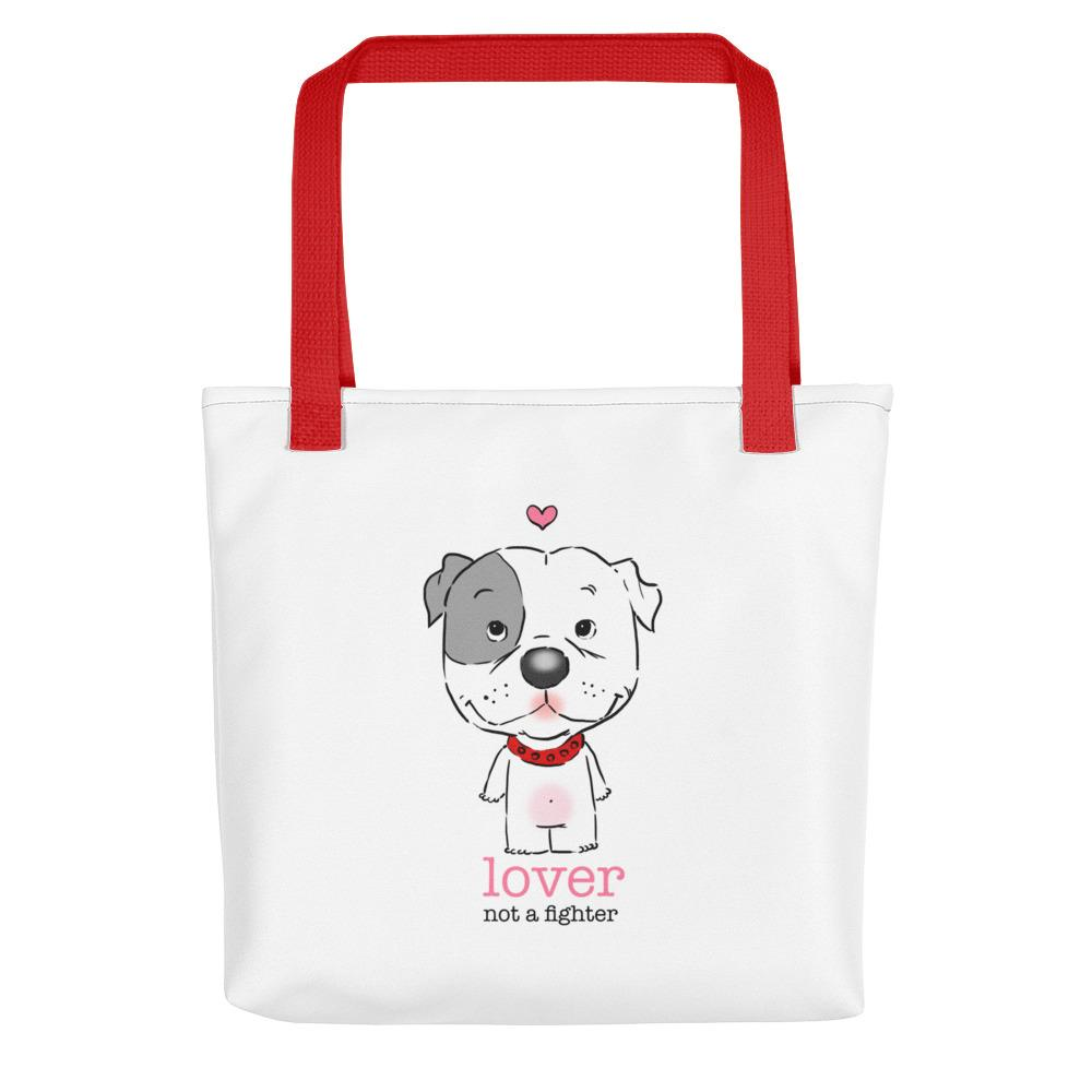 Totes - Pitbull Puppy Lover Not A Fighter Tote Bag