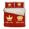 Image of Personalized King & Queen bedding set