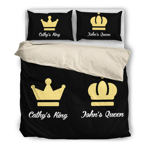 Personalized King & Queen bedding set