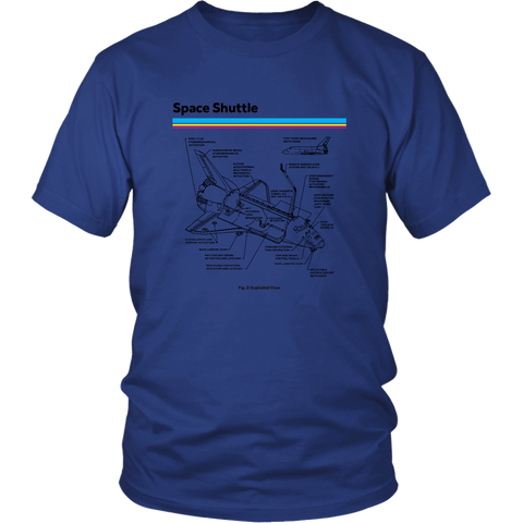 Retro Space Shuttle T shirt