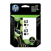 HP 63 Black Original Ink Cartridge, 2/Pack (T0A53AN) - Ink and Toner - Hewlett Packard - [variant_title] -Asktech Business Solutions Printer Repair Edmonton and Area