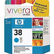 HP 38 Cyan Pigment Original Ink Cartridge (C9415A), Ink and Toner, Hewlett Packard, Asktech Business Equipment Repair and Sales, [variant_title] - Asktech Business Equipment