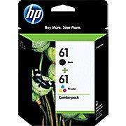 HP 61 Black & Tri-Colour Original Ink Cartridges, 2/Pack (CR259FN), Ink and Toner, Hewlett Packard, Asktech Business Equipment Repair and Sales, [variant_title] - Asktech Business Equipment