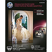HP® Premium Plus Photo Paper, Soft Gloss, 8-1/2
