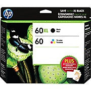 HP 60XL Black High Yield & 60 Tri-Colour Original Ink Cartridges, 2/Pack (N9H59FN), Ink and Toner, Hewlett Packard, Asktech Business Equipment Repair and Sales, [variant_title] - Asktech Business Equipment