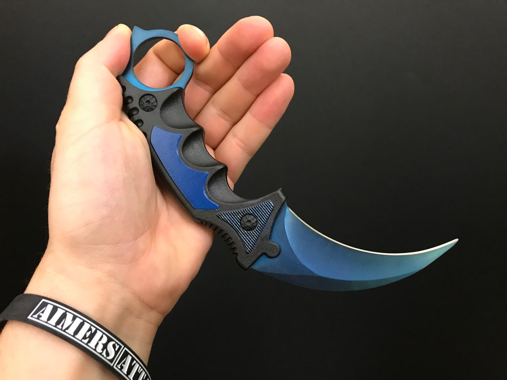 AimersAttack - Karambit Knife Blue Steel - Real CS GO Knives
