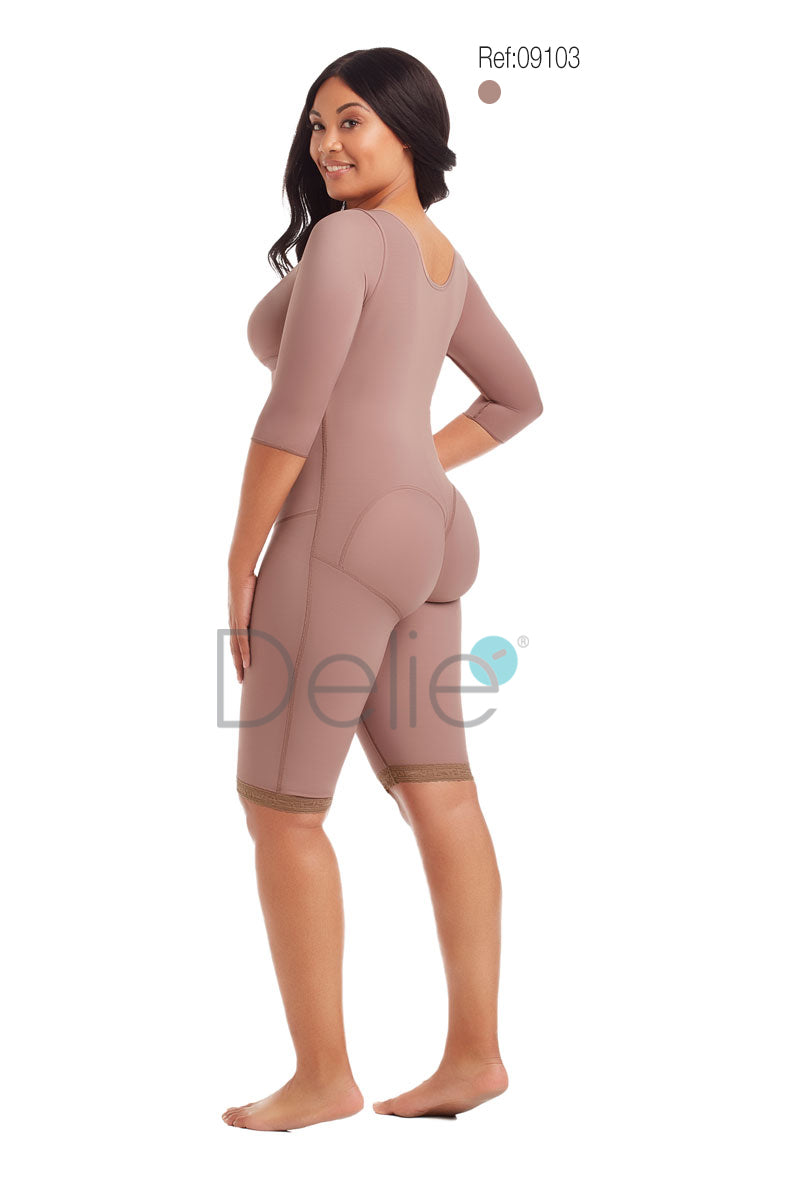 09103 -  ATTACHED BRA, LONG SLEEVE, 3 LEVEL HOOK, KNEE-LENGTH