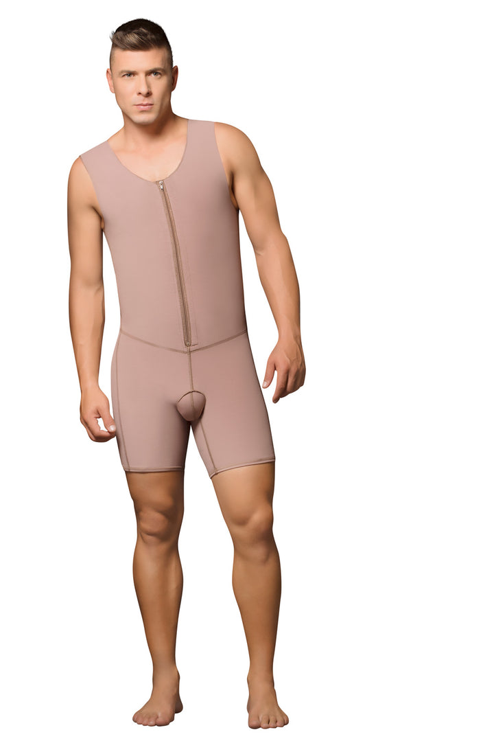 09016 - MALE GARMENT, FRONT ZIPPER, MID-THIGH