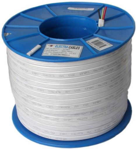 TWIN and EARTH FLAT POWER CABLE 1.5mm² 100m Roll