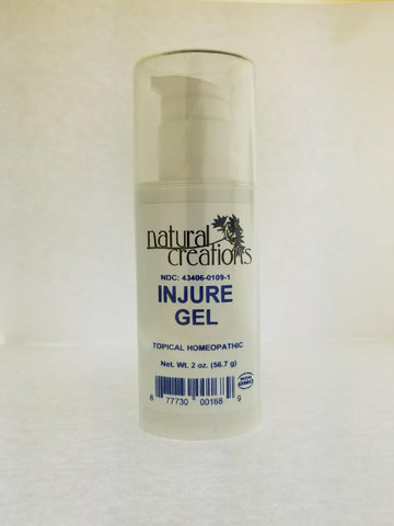 INJURE GEL 2OZ Topical Treatment relieves sourness and bruising of muscles and skin.