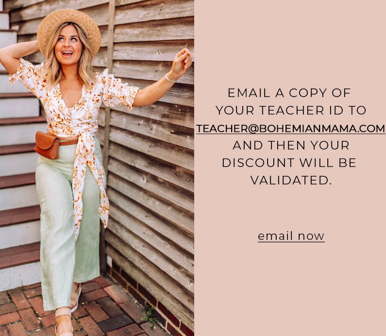 Teacher Discount Bohemian Mama