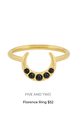 FIve and two florence ring