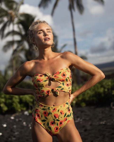 Keyhole one-piece floral swimsuit from Tori Praver